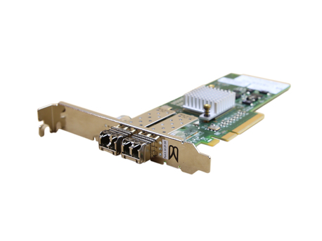 Network Cards 571521-002 2X 8G FP Brocade 825 PCIe x8 8Gb Dual Port Fibre Channel with 2x 8Gb GBICs (1)